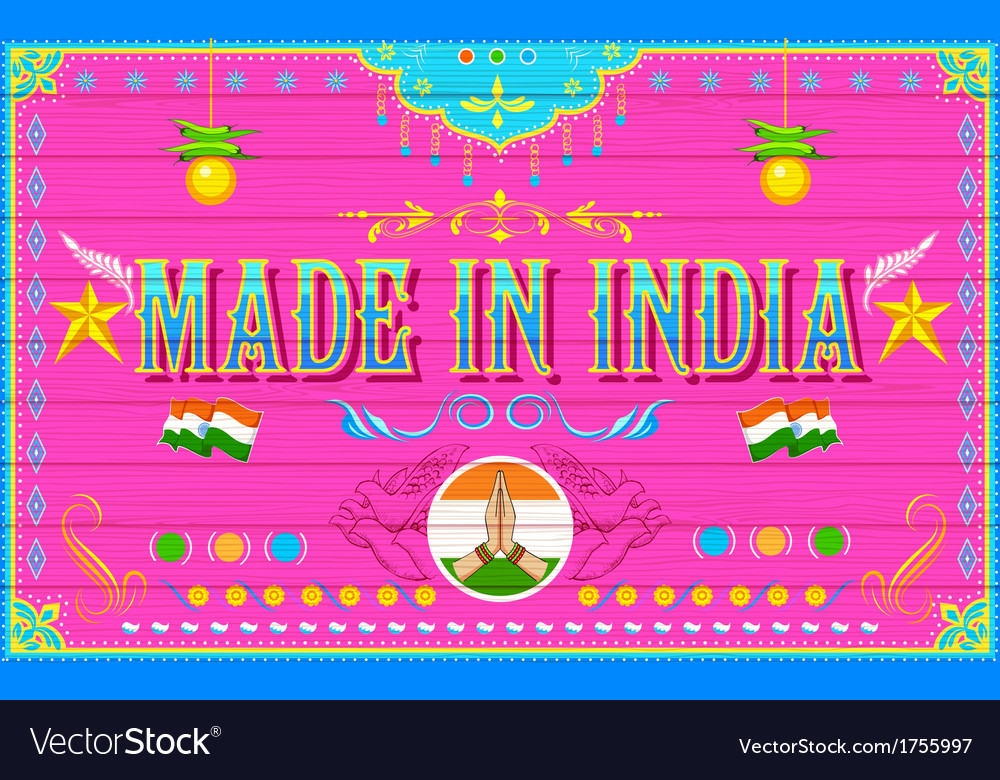 Made in india background vector | Price: 1 Credit (USD $1)