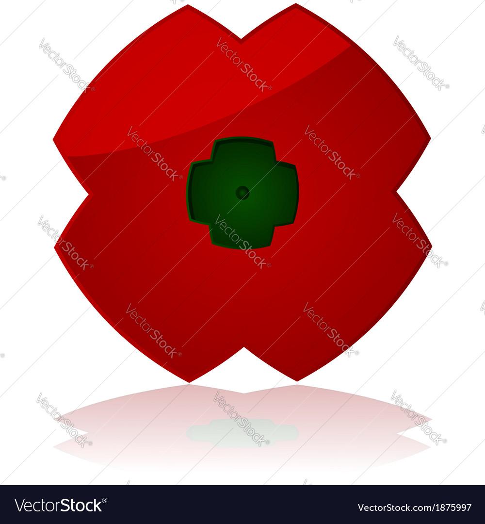 Poppy icon vector | Price: 1 Credit (USD $1)