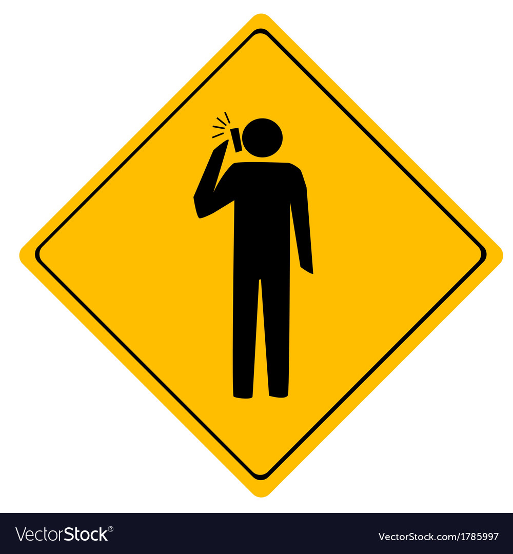 Road sign man working vector | Price: 1 Credit (USD $1)