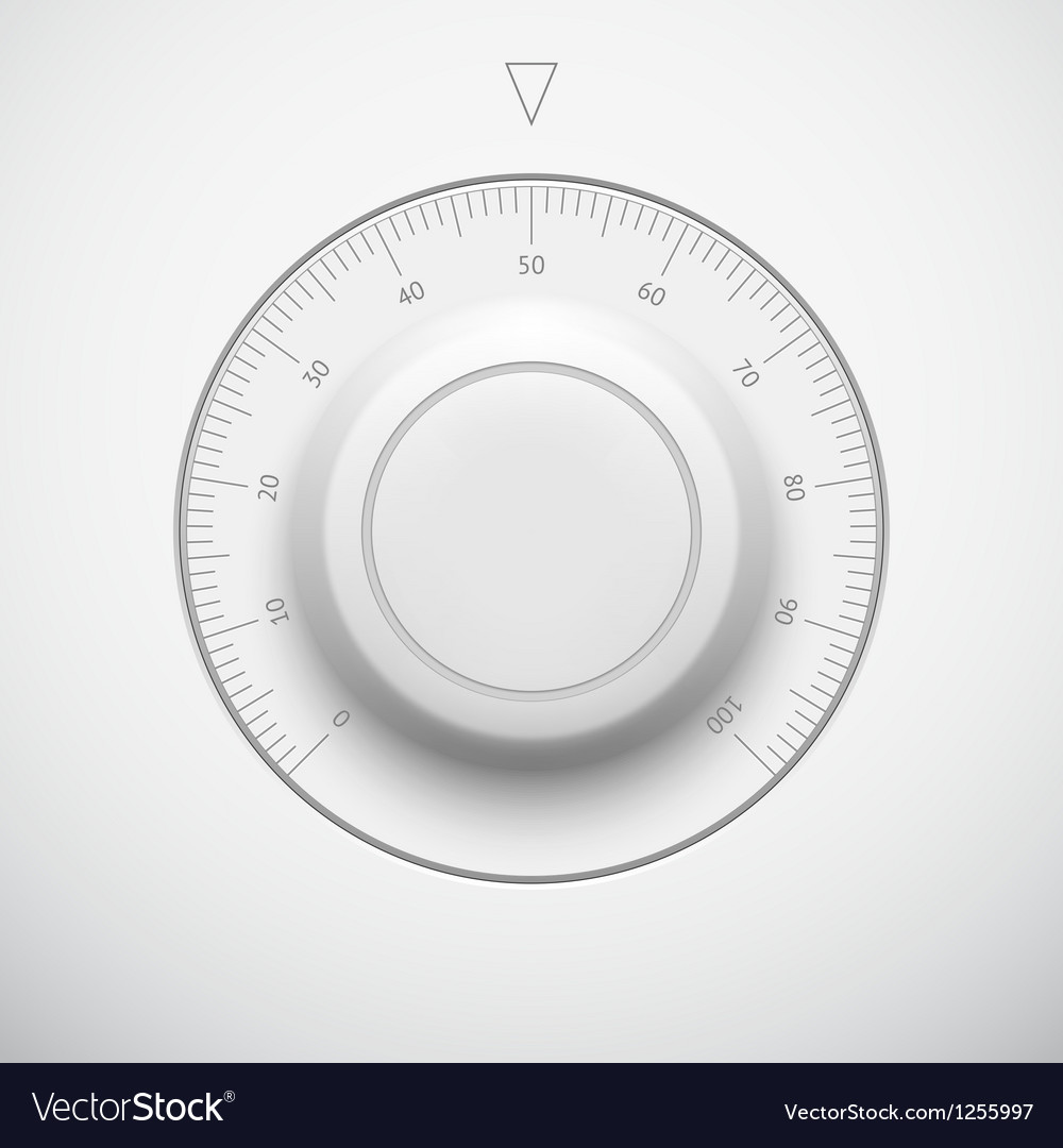 White technology volume button with scale vector | Price: 1 Credit (USD $1)