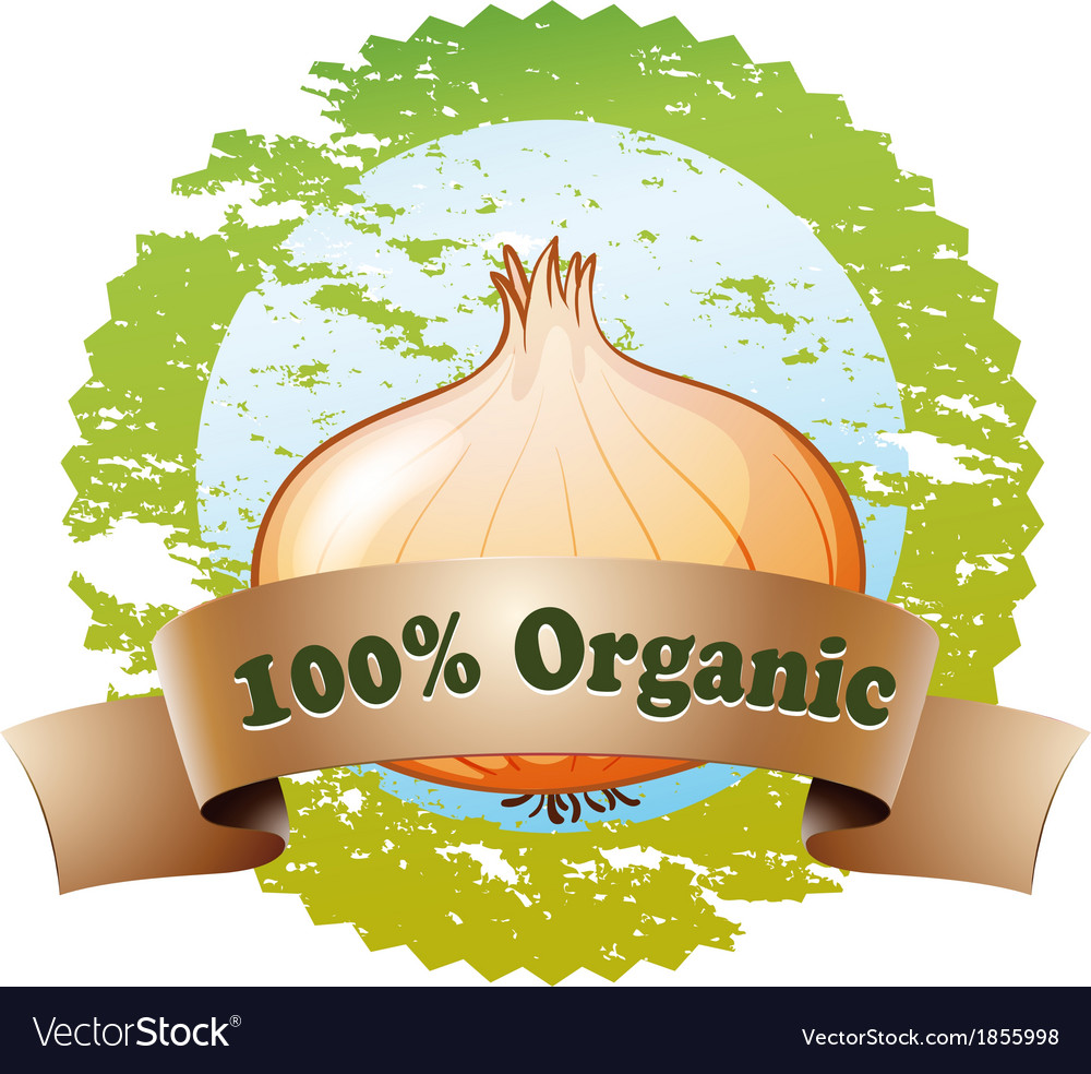 A pure organic label vector | Price: 1 Credit (USD $1)