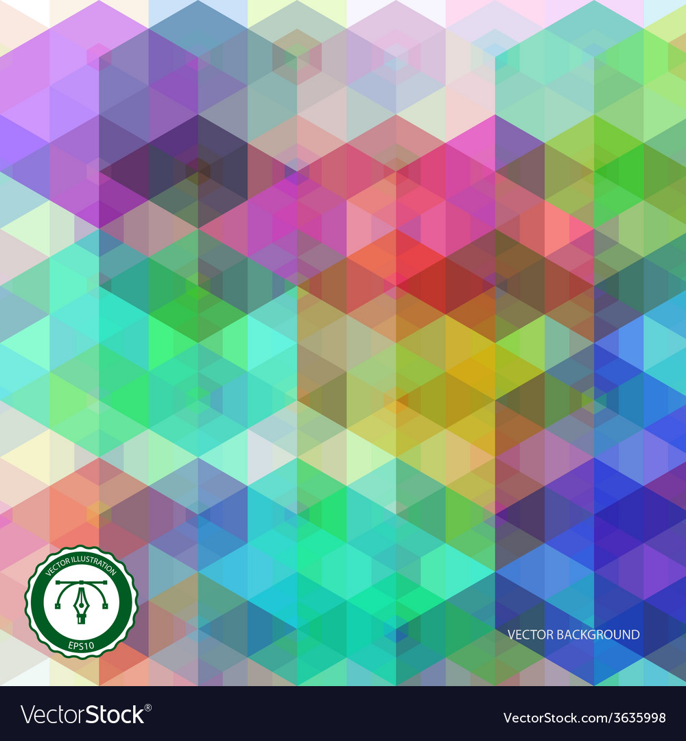 Abstract hexagon colorful background vector | Price: 1 Credit (USD $1)