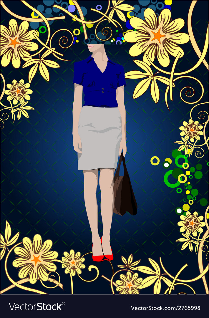Al 0738 woman poster 02 vector | Price: 1 Credit (USD $1)
