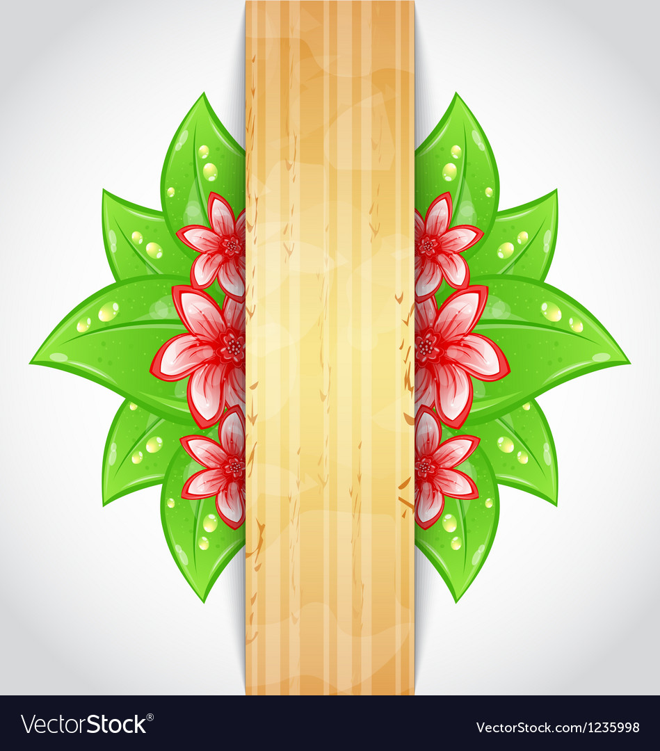 Eco friendly background with green leaves flower vector   Price: 1 Credit (USD $1)