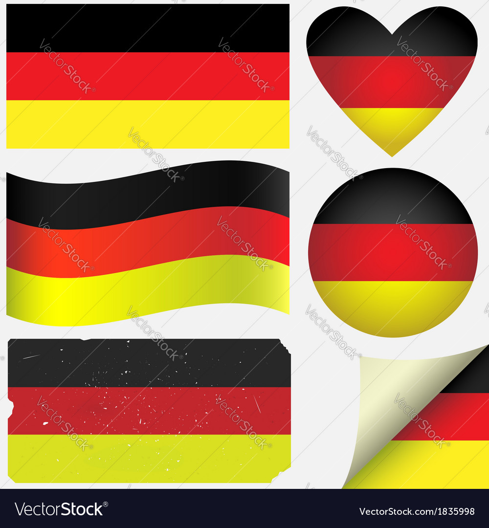 Germany icon set of flags vector | Price: 1 Credit (USD $1)