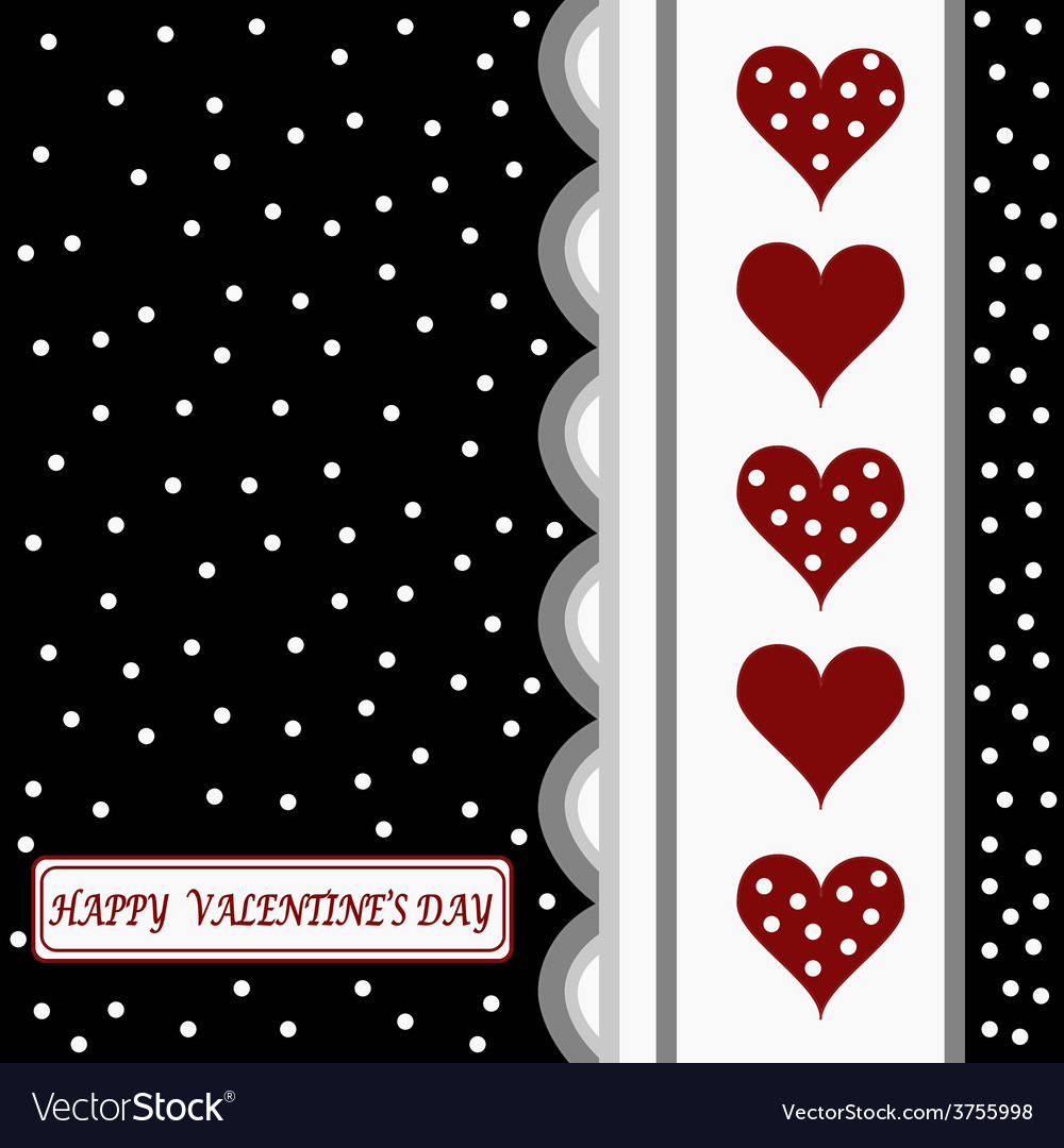 Happy valentines day card1 vector | Price: 1 Credit (USD $1)