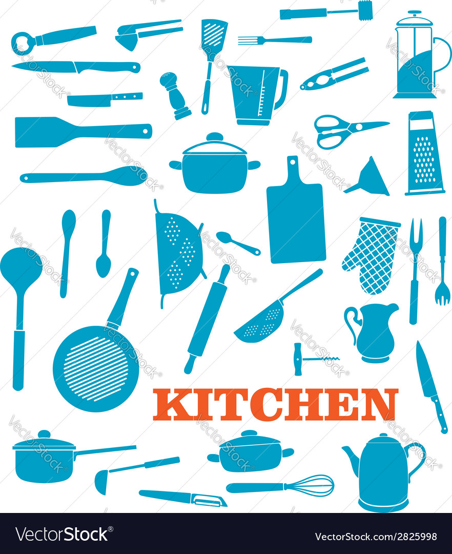 Kitchenware objects set vector | Price: 1 Credit (USD $1)