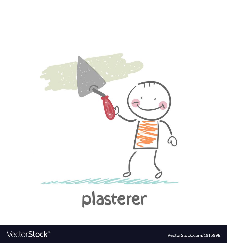 Plasterer works vector | Price: 1 Credit (USD $1)