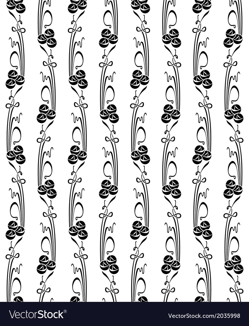 Stylized pattern with roses and curves on a white vector | Price: 1 Credit (USD $1)