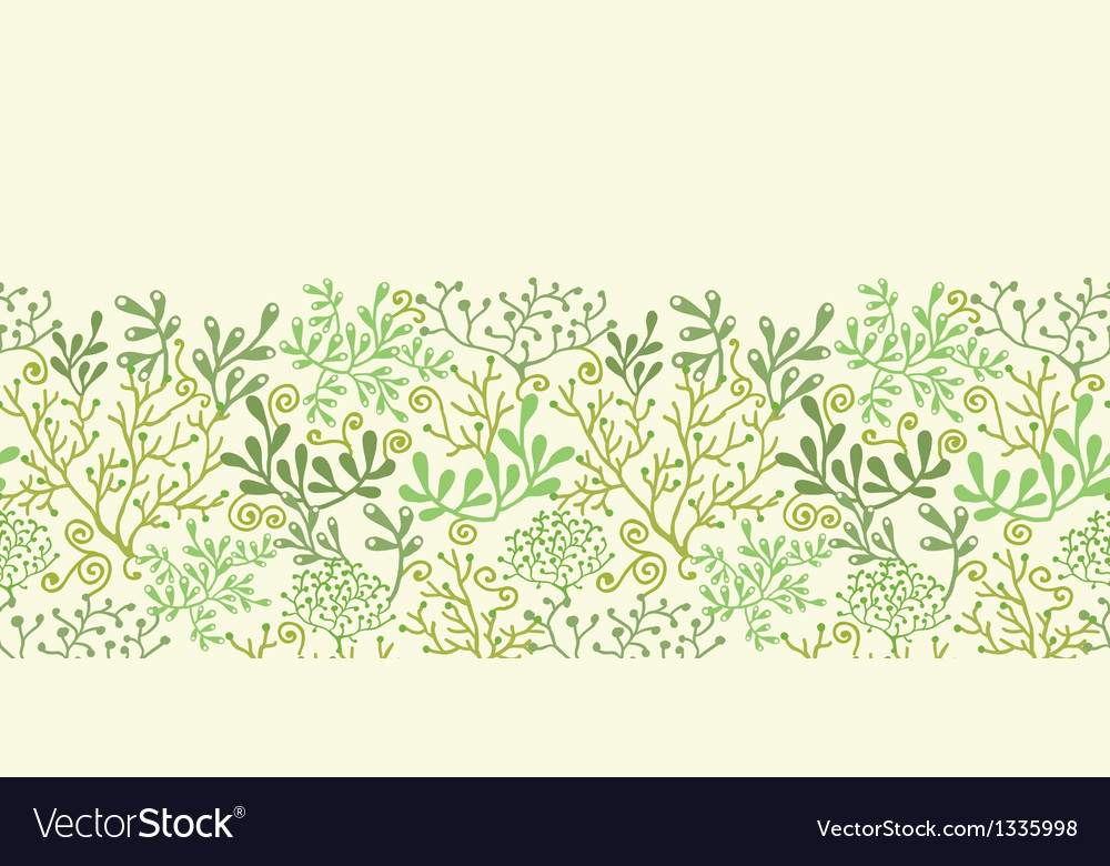 Underwater seaweed garden horizontal seamless vector | Price: 1 Credit (USD $1)