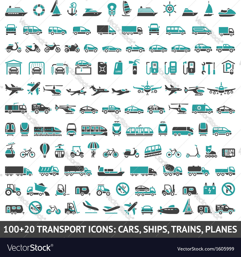 100 and 20 transport icon vector | Price: 1 Credit (USD $1)