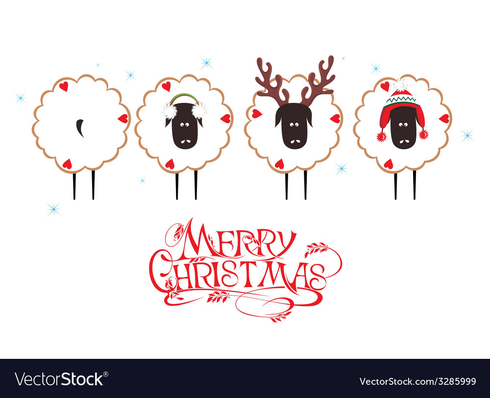 Christmas sheep vector | Price: 1 Credit (USD $1)
