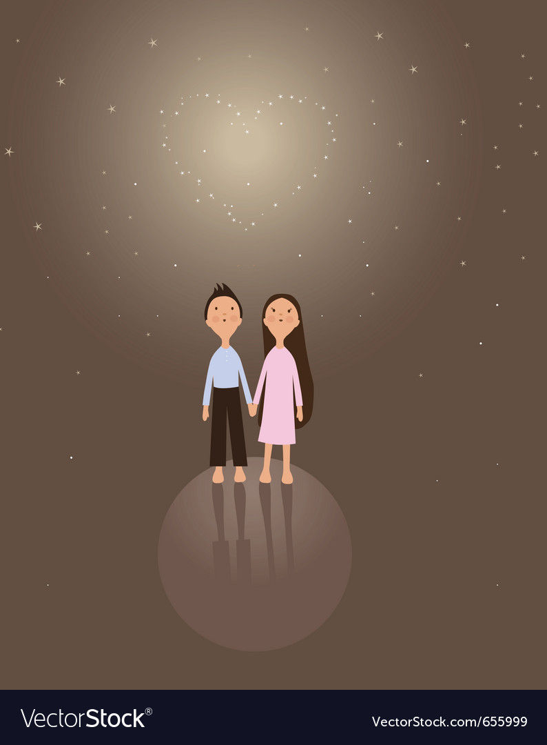 Cute boy and girl vector | Price: 1 Credit (USD $1)