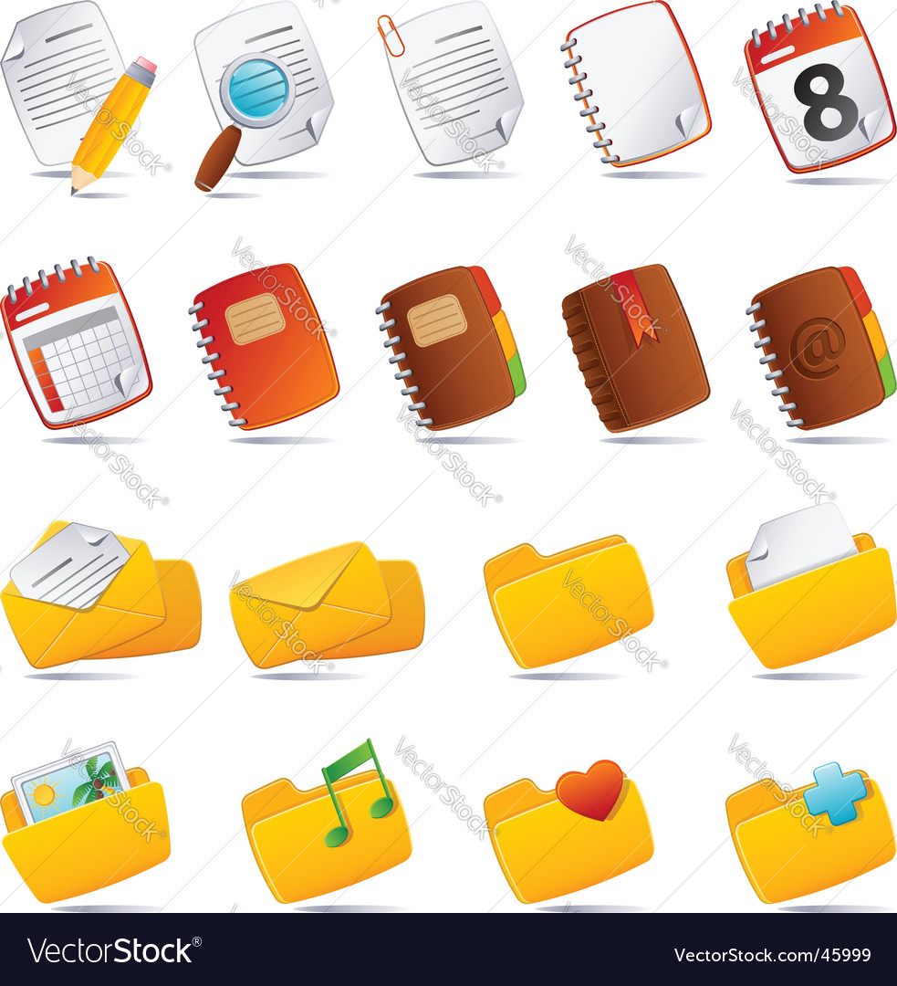 Document icons vector | Price: 1 Credit (USD $1)