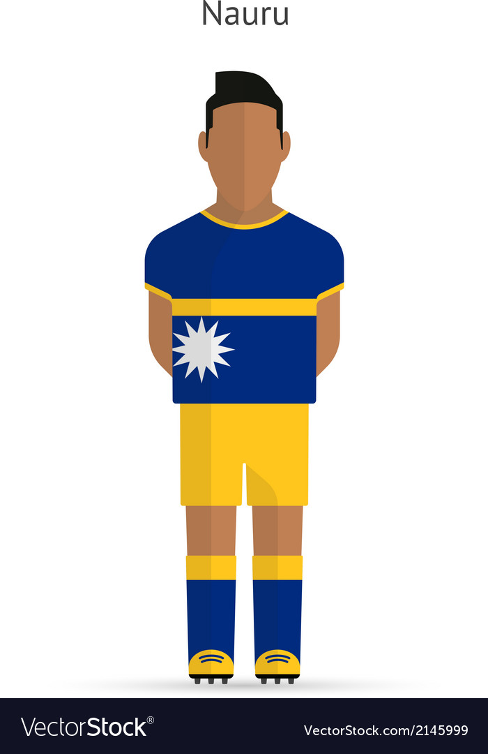Nauru football player soccer uniform vector | Price: 1 Credit (USD $1)