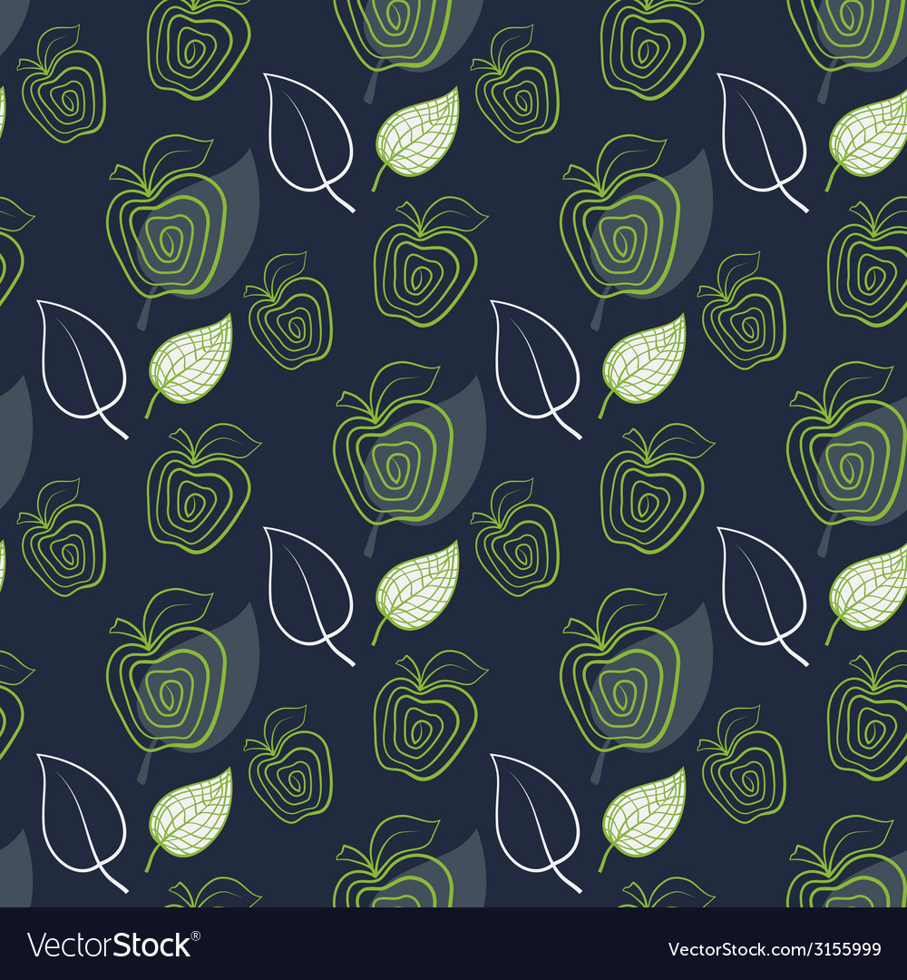 Seamless pattern with abstract fresh apple vector | Price: 1 Credit (USD $1)