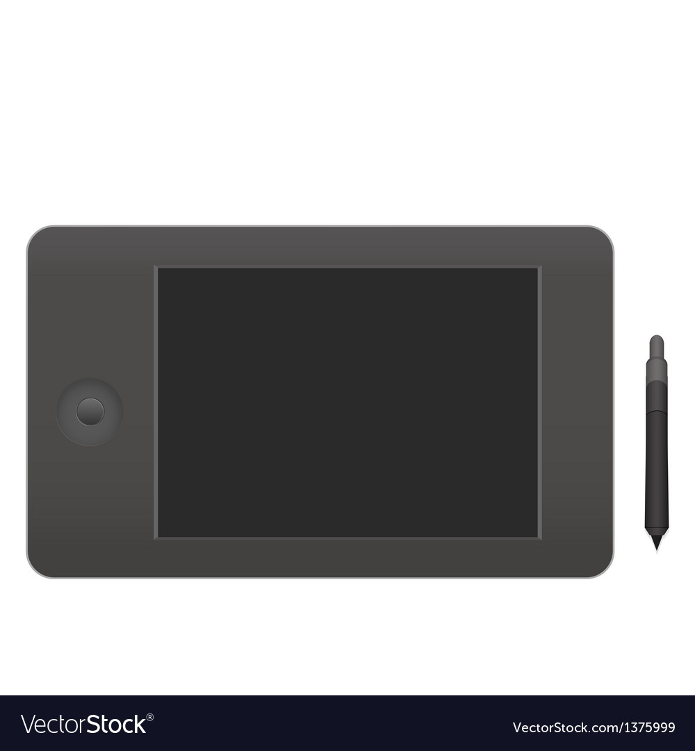 Semi realistic graphics tablet vector | Price: 1 Credit (USD $1)