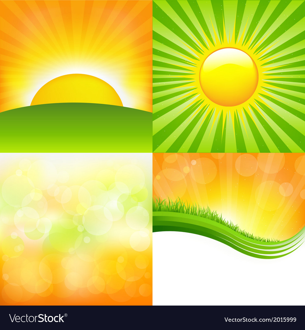 Sunrise set vector | Price: 1 Credit (USD $1)
