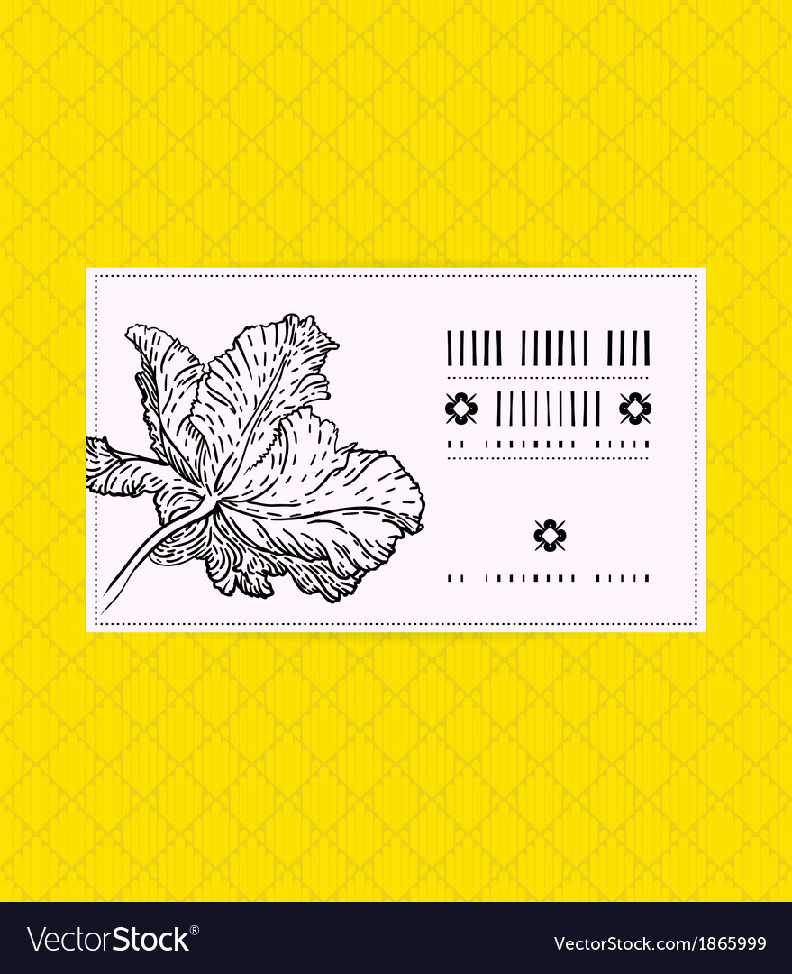 Vintage card with tulip flower vector | Price: 1 Credit (USD $1)