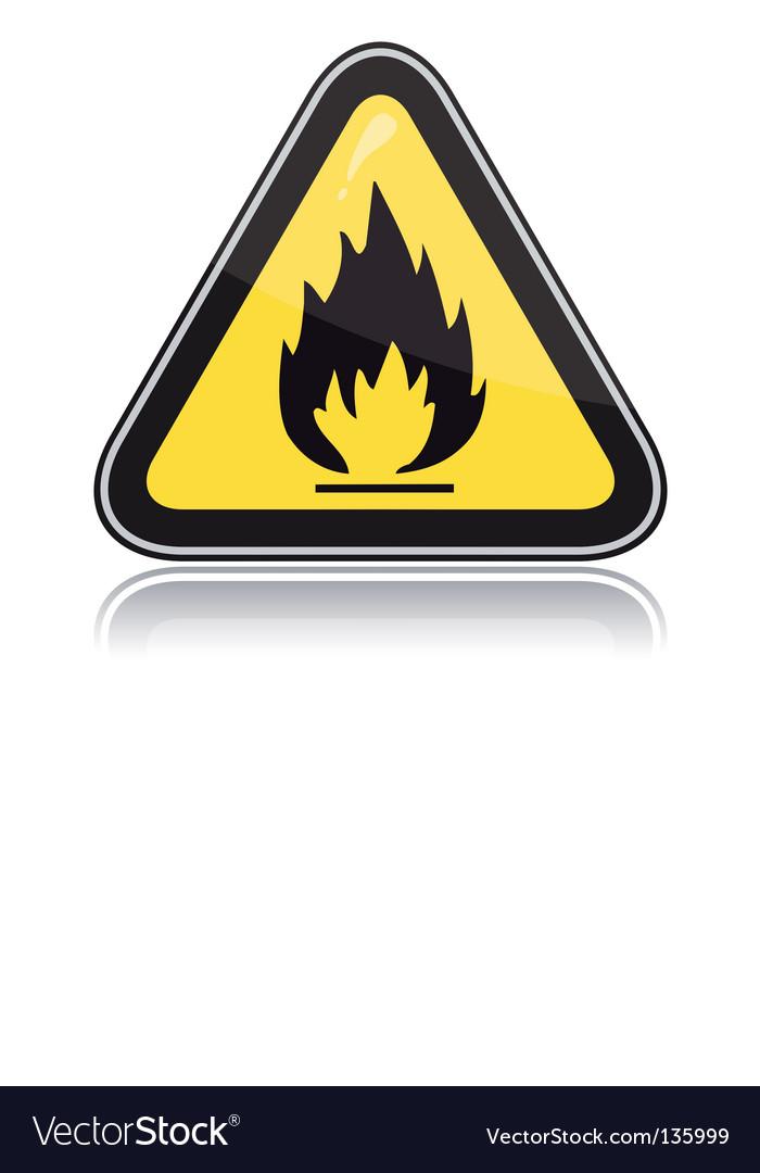 Yellow triangular warning sign vector | Price: 1 Credit (USD $1)