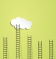 Ladders to cloud vector