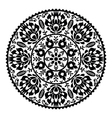 Polish traditional black folk pattern in circle vector