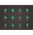 Coffee cup and tea mug icons vector