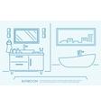Bathroom furniture outline vector