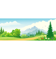 Forest banner vector