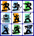 Sport pictograms drawings vector