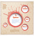 Vintage web design with wine spots vector