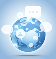 Abstract global communication scheme on earth vector