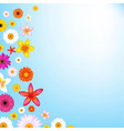 Flowers and sky vector