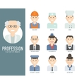 Different people professions characters set flat vector
