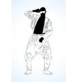 Old school rap dancer vector