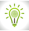 Light bulb with green tree icon vector