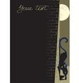Black cat background vector