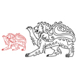 Vintage royal lion for heraldry or tattoo design vector
