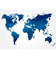 Abstract background with map of the world vector
