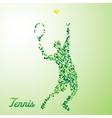 Abstract tennis player kicking the ball vector
