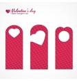 Set of three valentines day themed door hangers vector
