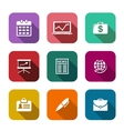 Set of flat business icons vector