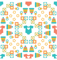 Seamless pattern of baby icons vector
