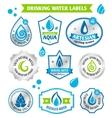 Set of water drops label vector