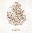 Happy easter vintage background with delicate egg vector
