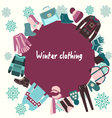 Winter-clothing-winter clothes collection vector