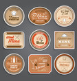 Vintage menu labels vector
