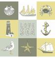 Sea coast background vector