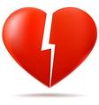 Two parts of broken heart vector