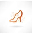 Shoe grunge icon vector
